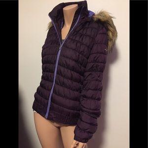 Rich plum Merrell winter hooded coat